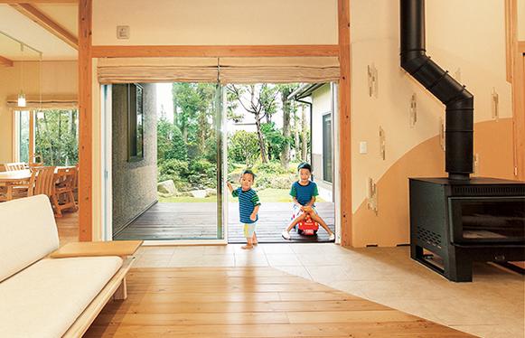 憩いの時間、個人の時間、どちらも叶える二世帯住宅