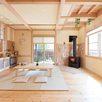 薪ストーブのある木の家1