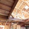 組み込み車庫の5層住宅 構造見学会1