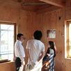 組み込み車庫の5層住宅 構造見学会2