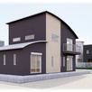 アーチ型屋根が映える二世帯住宅の二階建て1