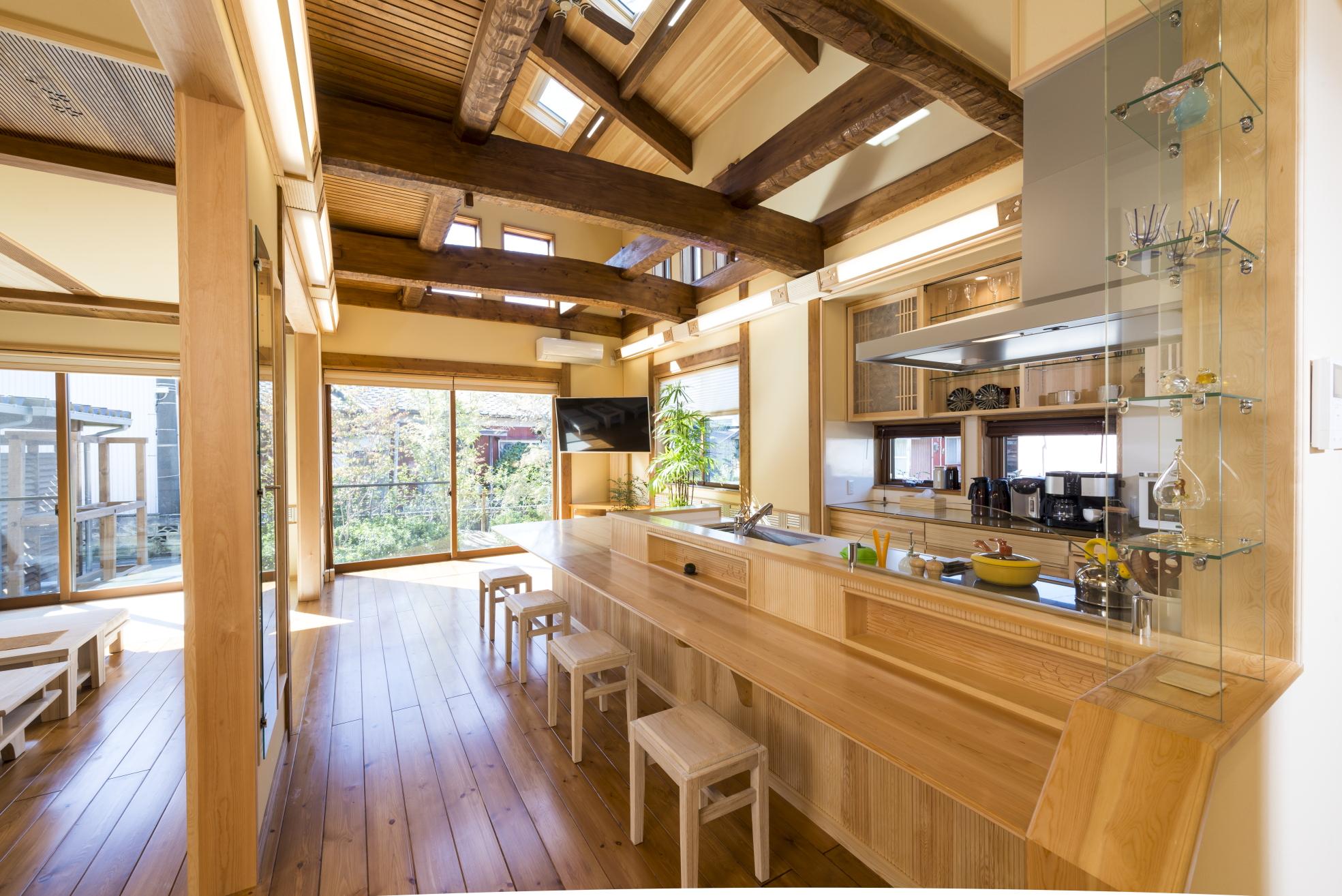 天然無垢材をふんだんに使った夢ハウスのリセット住宅