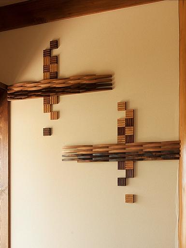 わずかな壁面でもデザイン性の高い演出が可能