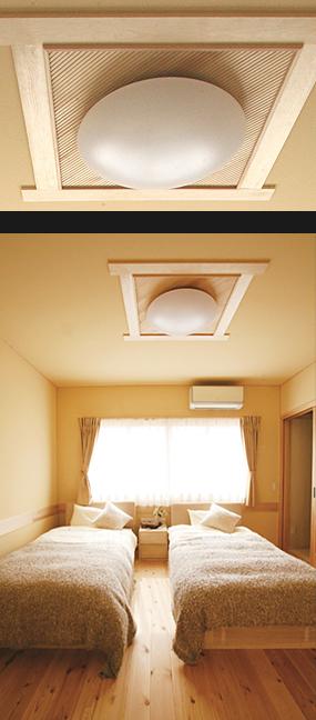 シンプルな照明や部屋が華やぐ