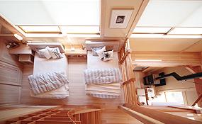 吹抜けをつけることで、開放的な空間になり冷暖房の効率も上がる