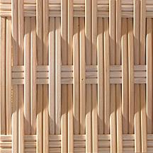 ウェーブの板材を編み込み 幅狭