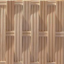 ウェーブの板材を編み込み 幅広
