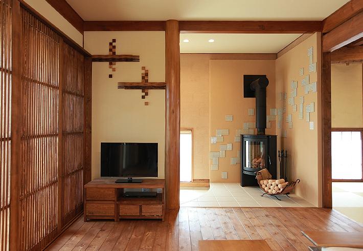 わずかな壁面でもデザイン性の高い演出が可能です