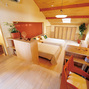 寝室:中越展示場活け木の家メイン画像