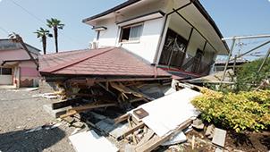 崩壊してしまった建物の例4. 築5年